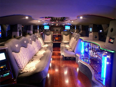 Interior of Hummer Limousine