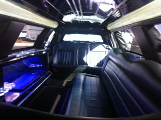 Interior of Stretch Limo 10 passengers